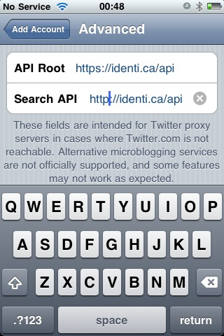 Tweetie 2 Advanced (API Root) screenshot