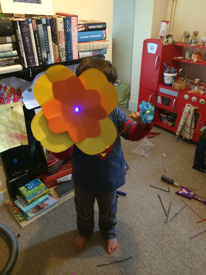 The huge flower worked very well!